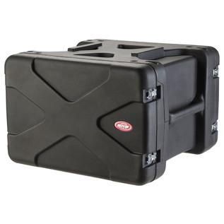 SKB 20'' Deep 6U Roto Shockmount Rack Case - Angled