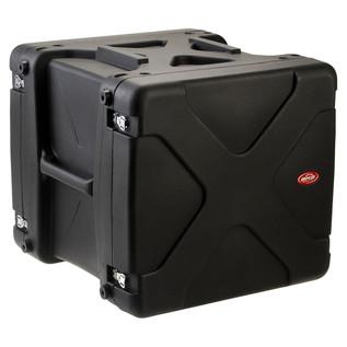 SKB 20'' Deep 10U Roto Shockmount Rack Case - Angled