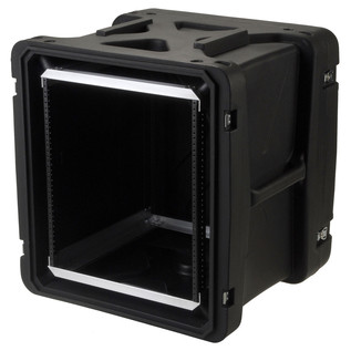 SKB 20'' Deep 12U Roto Shockmount Rack Case - Angled Open 2