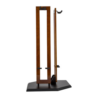 Fender Hanging Wood Double Guitar Stand, Cherry