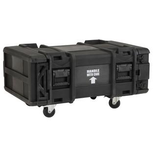 SKB 30'' Deep 4U Roto Shockmount Rack Case - Angled