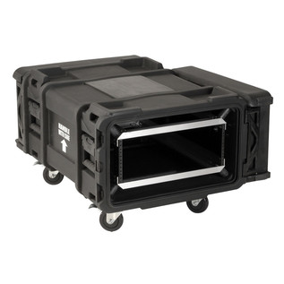 SKB 30'' Deep 4U Roto Shockmount Rack Case - Angled Open