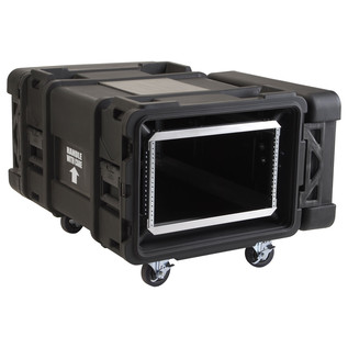 SKB 30'' Deep 6U Roto Moulded Shock Rack Case - Angled Open