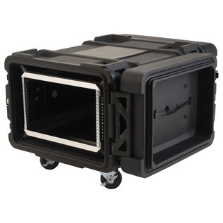 SKB 30'' Deep 6U Roto Moulded Shock Rack Case - Angled Open 2
