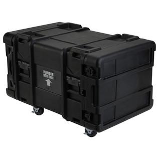 SKB 30'' Deep 8U Roto Moulded Shock Rack Case - Angled