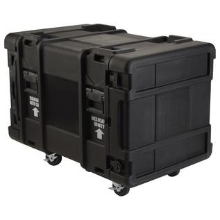 SKB 30'' Deep 10U Roto Moulded Shock Rack Case - Angled 2