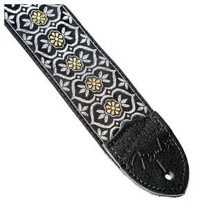 Fender 2'' Nylon Jacquard Strap, Silver/Gold Batam