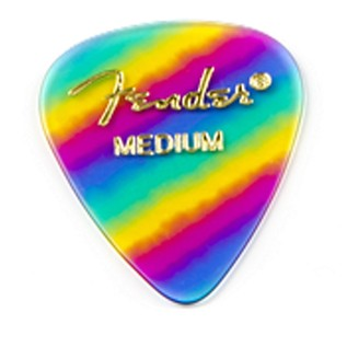 Fender 351 Medium Shape Rainbow Pick, Pack of 12