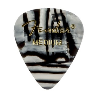 Fender 351 Shape, Medium Zebra Pick, Pack of 12