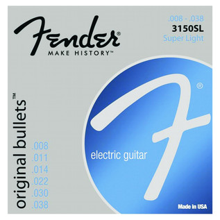 Fender 3150SL Pure Nickel Original Bullet Guitar Strings, 8-38