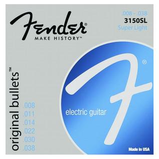 Fender 3150SL Pure Nickel Original Bullet Guitar Strings, 8-38