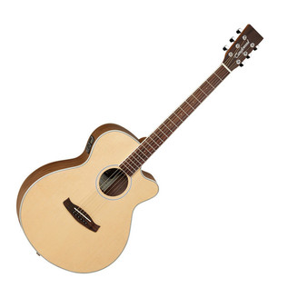 Tanglewood Discovery DBTSFCEBW Electro Acoustic Guitar, Natural