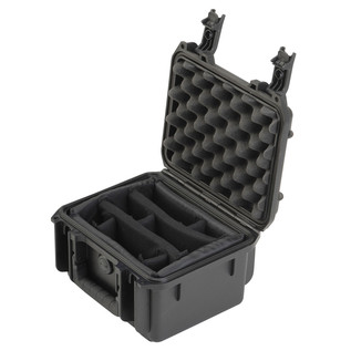 SKB iSeries 0907-4 Waterproof Case (With Dividers) - Angled Open