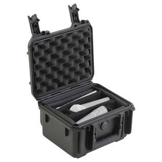 SKB iSeries 0907-6 Waterproof Case (With Dividers) - Angled Open (Contents Not Included)