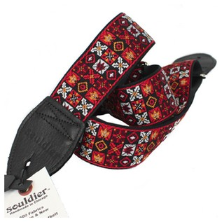 Souldier Guitar Strap Woodstock, Red/Black