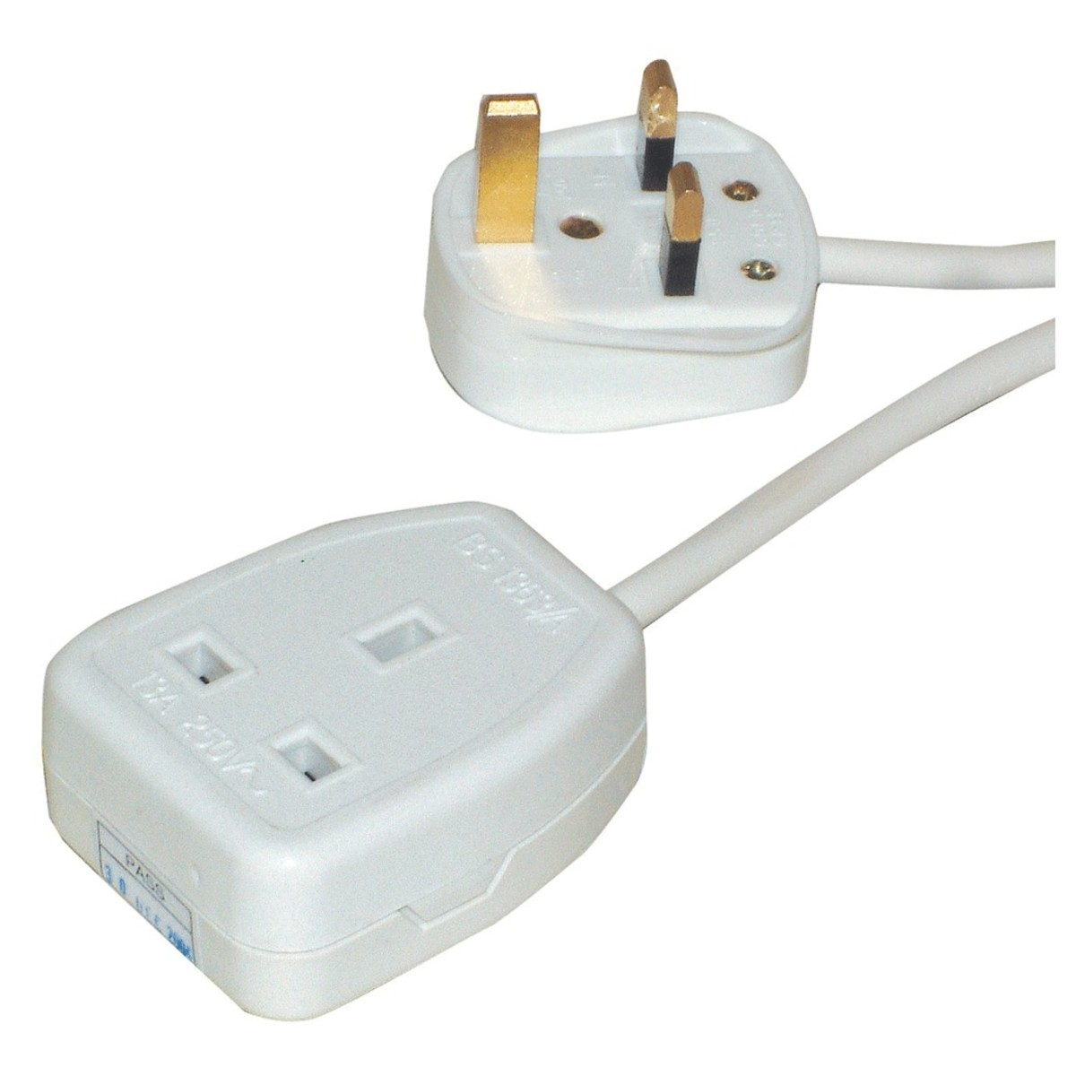 Image of Eagle Single Gang UK 13A 10m Extension Lead White
