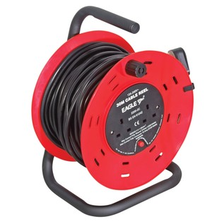 Eagle 2 Gang UK 13A Extension Reel, 30m