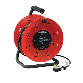 Eagle 4 Gang UK 13A Extension Reel, 40m