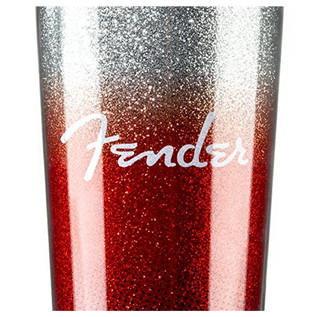 Fender Glitterburst Stainless Travel Mug, Red