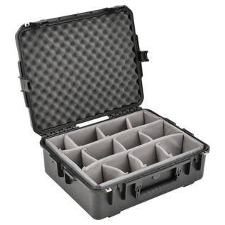 SKB iSeries 2217-8 Waterproof Case (With Dividers) - Angled Open