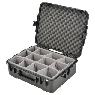 SKB iSeries 2217-8 Waterproof Case (With Dividers) - Angled Open 2