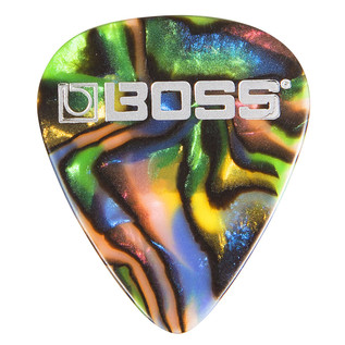 BOSS Celluloid Pick Medium 12 Pack, Abalone - Singular Pick