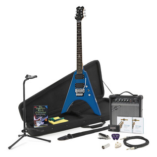 Houston Electric Guitar + Complete Pack, Blue