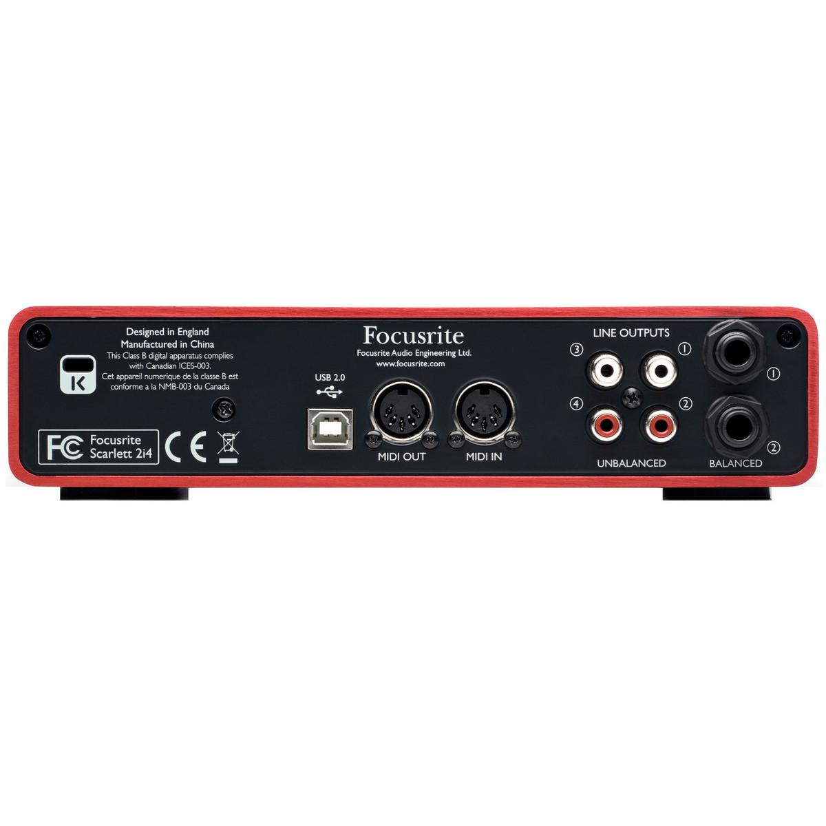 focusrite scarlett 2i4 usb audio interface ex demo at. Black Bedroom Furniture Sets. Home Design Ideas