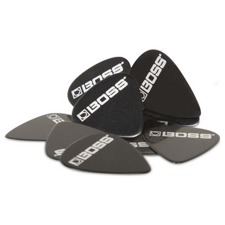 BOSS Celluloid Pick Thin 12 Pack, Black - Pack
