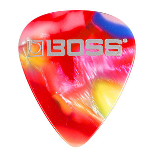BOSS Celluloid Pick Thin 12 Pack, Mosaic - Singlular Pick