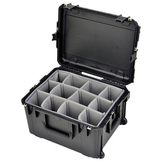 SKB iSeries 2217-12 Waterproof Case (With Dividers) - Angled Open 2