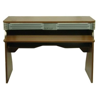 0Sefour X60 Studio DJ Desk, Tobacco Walnut - Front