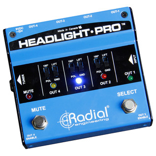 Radial Tonebone Headlight Pro DI Compact Guitar Amp Selector - Main