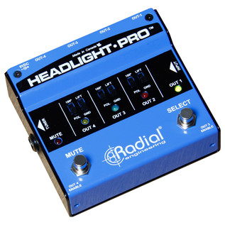 Radial Tonebone Headlight Pro DI Compact Guitar Amp Selector - Angled 2