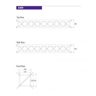 Prolyte X30V Square Truss 2m