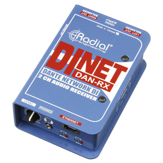 Radial Tonebone DiNET DAN-RX Network Direct Box with Dante - Main