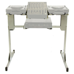 Sefour X25 CDJ Stand for CDJ 850, 900, 1000, Silver - Front Frame (Contents Not Included)