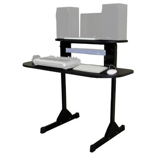 Sefour X15 Studio Pro Desk, Gloss Black - Angled