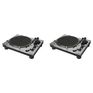 Sefour Dec-Plate (Pair - Technics M3/M5 Versions), Mirror Chrome - Covers (Turntables Not Included)