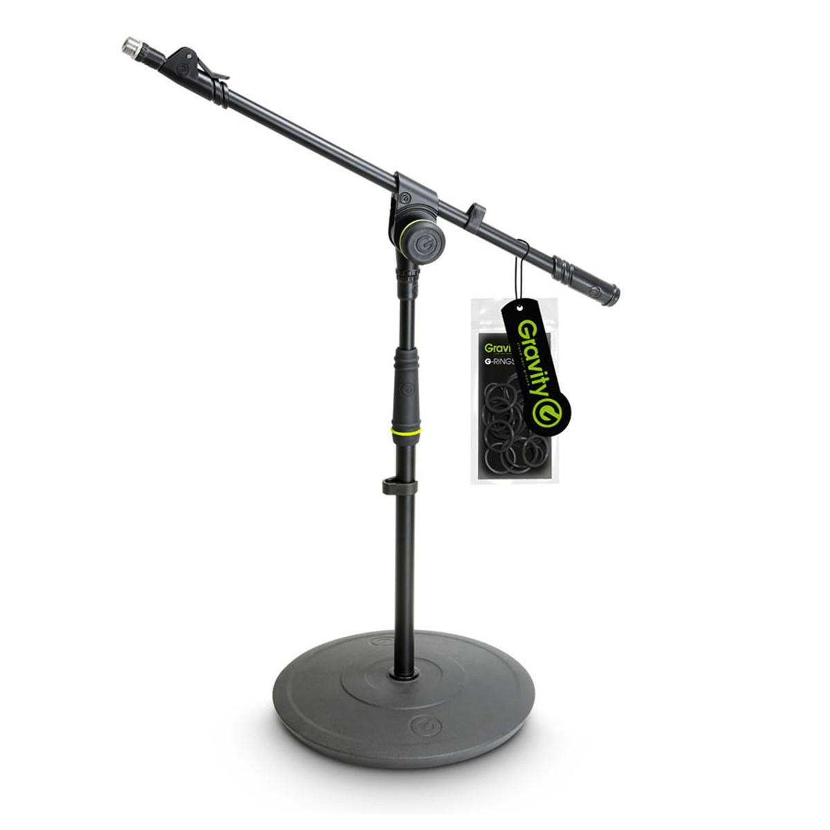 Image of Gravity GMS2212B Short Microphone Stand with Telescoping Boom
