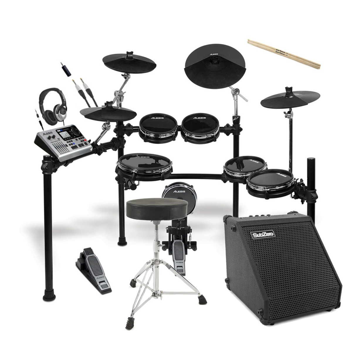 alesis dm10 x studio kit mesh digital drum kit bundle at. Black Bedroom Furniture Sets. Home Design Ideas
