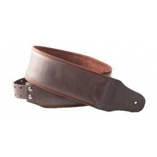 Right On Straps BASSMAN Smooth Guitar Strap, Brown