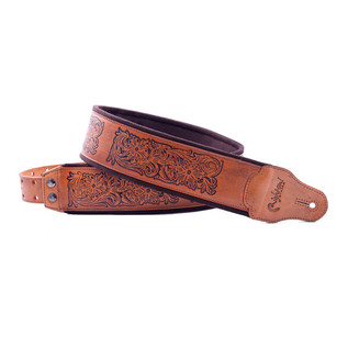 Right On Straps LEATHERCRAFT Charro Guitar Strap, Woody