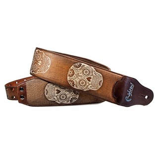 Right On Straps LEATHERCRAFT Sugar Guitar Strap, Woody