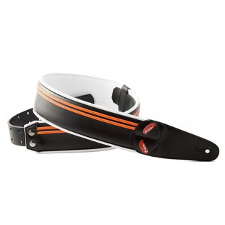Right On Straps MOJO Race Guitar Strap, Black/Orange HD