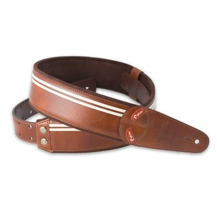 Right On Straps MOJO Race Guitar Strap, Brown