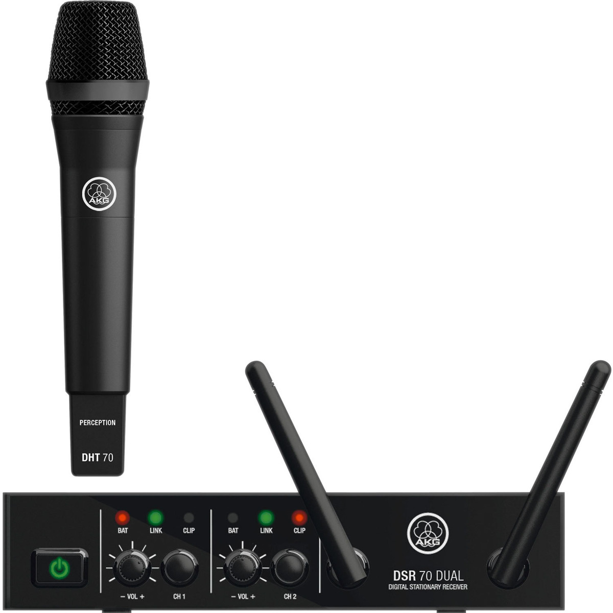 akg dms70d wireless microphone system vocal set nearly new at. Black Bedroom Furniture Sets. Home Design Ideas
