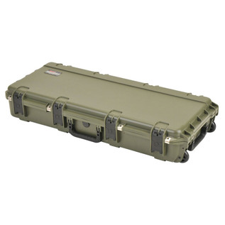 SKB iSeries 3614-6 Waterproof Case (With Layered Foam), Olive Drap - Angled Closed