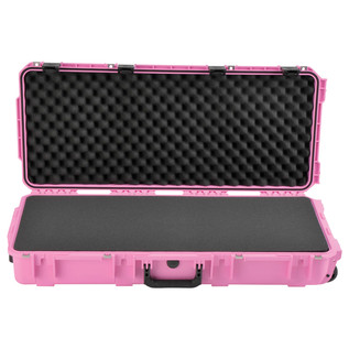 SKB iSeries 3614-6 Waterproof Case (With Layered Foam), Pink - Front Open