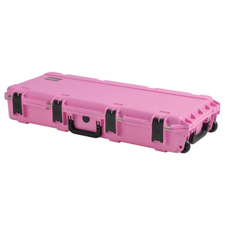 SKB iSeries 3614-6 Waterproof Case (With Layered Foam), Pink - Angled Closed